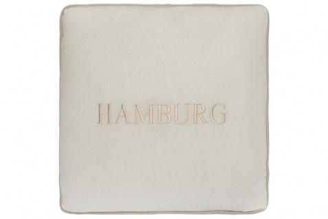Kissen Hamburg Baumwolle Weiß