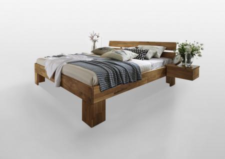 Bett Doppelbett Einzelbett Jugendbett Gästebett Wildeiche massiv Holzbett