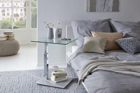 Couchtisch Beistelltisch Glas, Holz und Metall 47x55 cm - Vorschau 2