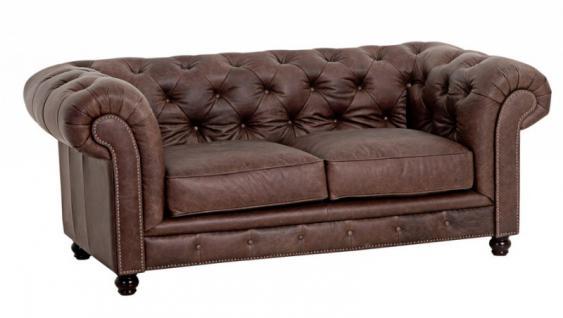 Sofa Couch Ledersofa 2 Sitzer Leder braun vintage used Look antik 2-sitzig