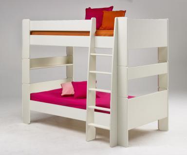 Etagenbett Hochbett Kinderbett Jugenbett umbaubar MDF weiß lackiert