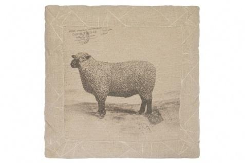 Kissen Sheep Quadratisch Baumwolle&Polyester Beige