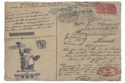 Kissen New York Postcard Baumwolle&Polyester Bunt