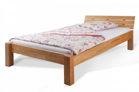 Bett Jugendbett Doppelbett Holzbett Schlafzimmer Buche massiv versch. Grössen