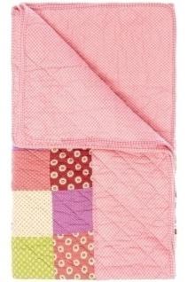 Patchwork Decke Francesca I Baumwolle Mehrfarbig