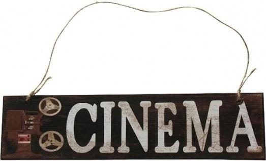 Holzschild Cinema MDF Mehrfarbig