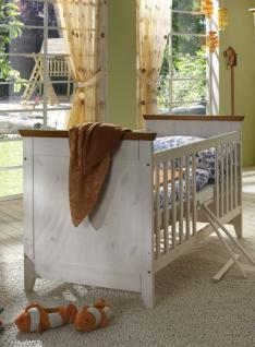 Kinderbett Babybett Sprossenbett Bett Landhausstil Kiefer massiv