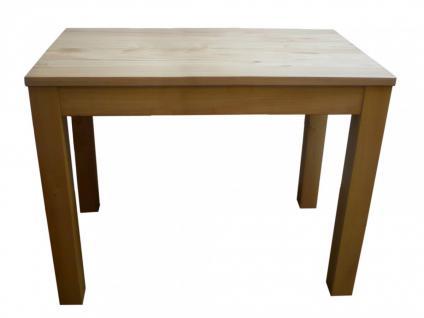 Esstisch Tisch Küchentisch 120x80 cm Wildeiche massiv geölt stabverleimt