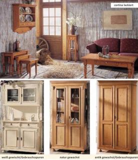 Sekretär Arbeitszimmer Fichte massiv antik shabby Landhaus vintage Kugelfüße - Vorschau 2