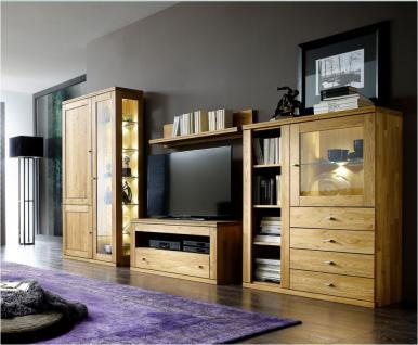 Anbauwand Wohnwand Wohnwand-Kombination Wohnzimmerwand Wohnzimmer Wildeiche
