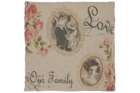 Family Kissen Love our Family Baumwolle&Polyester Bunt