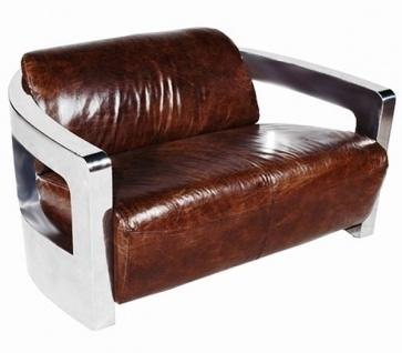 Mars 2-Sitzer Sofa Rindsleder Vintage Cigar