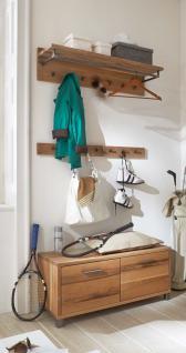 Garderobe Set Garderobenkombi Einrichtung Balken Eiche massiv geölt Wuchsrisse