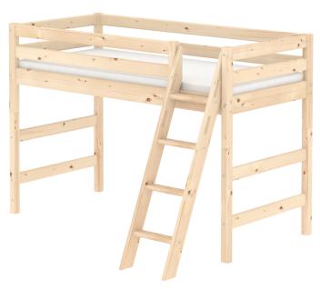 Flexa Classic mittelhohes Bett mittelhoch Hochbett Kinderbett Jugendbett Kiefer