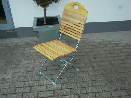 Gartenstuhl 2er Set Gartenmöbel Stuhl Klappstuhl Biergarten Robinie Mit  Stahl