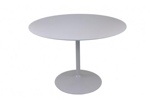 Bistrotisch rund Durchmesser 110 cm Weiß