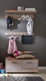 Garderobe Set Garderobenkombi Einrichtung Balken Eiche massiv geölt Wuchsrisse - Vorschau 2