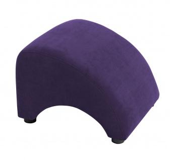 Brandford Hocker Veloursstoff Violett Kunststoff