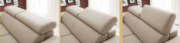 Couch Sofa Ledersofa Echtleder Leder hell 2, 5 Sitzer Sitzvorschub - Vorschau 2