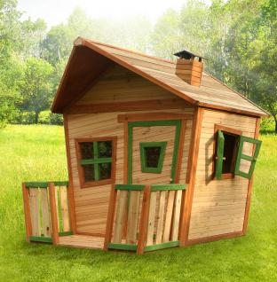 Spielhaus Spielhütte Holzspielhaus Holzspielhütte Hexenhäuschen TÜV geprüft Holz - Vorschau 1