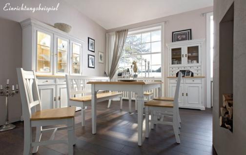 Bank Sitzbank Beistellbank Küche Esszimmer Fichte massiv weiß antik - Vorschau 2
