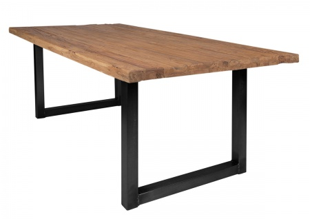 TABLES&CO Tisch 220x100 Recyceltes Teak Natur