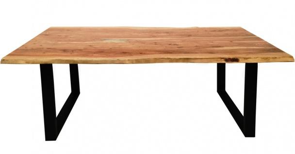TABLES&CO Tisch 200x100 Akazie Natur Stahl Schwarz