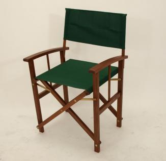 Regiestuhl 2er Set Gartenstuhl Klappstuhl Regiesessel Eukalyptus FSC Stoff grün