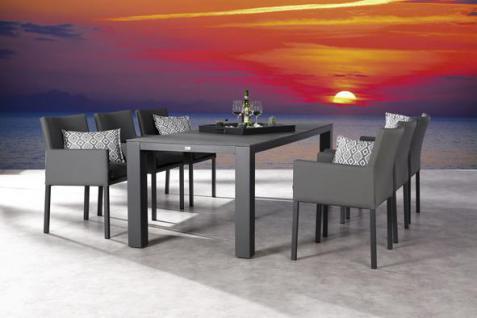 Gartengarnitur Garten-Set Gartengruppe Gartenmöbel Aluminium Sitzgruppe modern