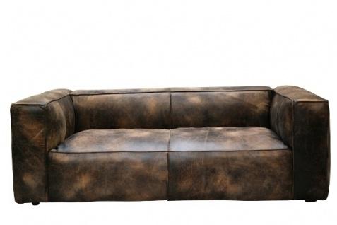Tribeca 2-Sitzer Sofa Rindsleder Galata Ebony