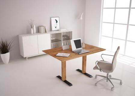 Esstisch Schreibtisch Tisch 140x90 höhenverstellbar Wildeiche