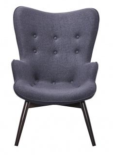 Sessel Metall und Polyester Anthrazit