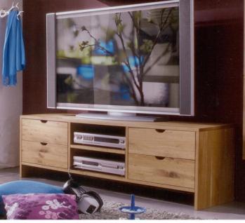 TV-Board TV-Anrichte Bank Schuhbank TV-Konsole Lowboard Wildeiche geölt massiv
