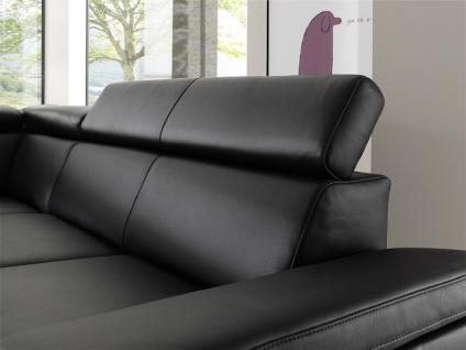 Garnitur Polsterecke Eckgarnitur Ledergarnitur Couch Funktionssofa schwarz Leder W1 - Vorschau 3