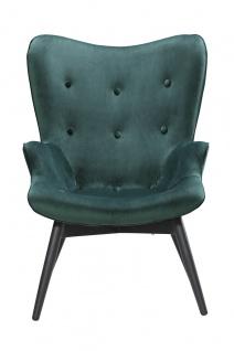 Sessel Metall und Polyester Grün und Schwarz