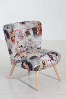 Stuhlsessel Sessel Stuhl Retro Vintage Pin Up Muster nostalgisch romantisch