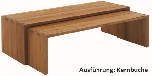 Couchtisch Couchisch-Set Beistelltische Tisch Kernbuche Wildeiche massiv geölt
