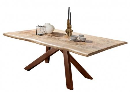 TABLES&Co Tisch 200x100 Mangoholz Natur Metall Braun