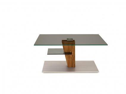 Couchtisch Beistelltisch Glas, Holz und Metall 60x100 cm - Vorschau 2