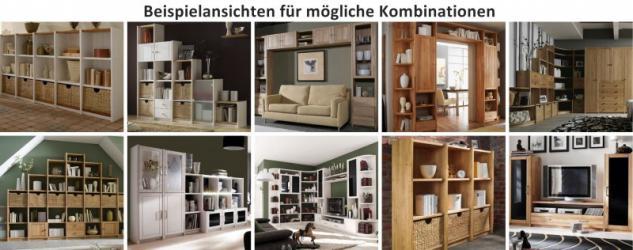 schreibtisch regal kombi anbauschreibtisch kernbuche massiv ge lt regalsystem kaufen bei saku. Black Bedroom Furniture Sets. Home Design Ideas