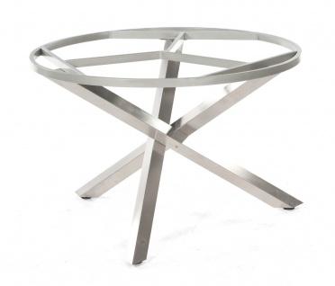 Base-Spectra Tischgestell Edelstahl Silber