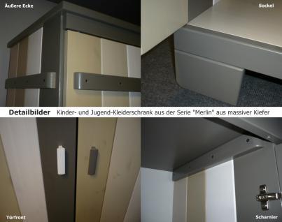 Kinderzimmer Set halbhohes Abenteuerbett Kleiderschrank Bett Kiefer massiv bunt - Vorschau 4