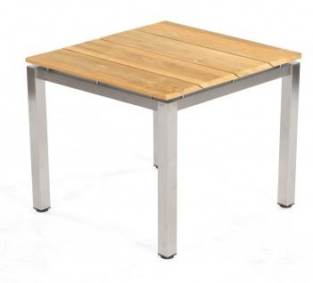 Base Tischgestell Edelstahl Silber