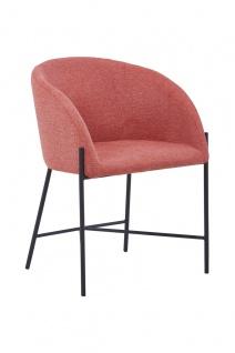 Esszimmerstuhl Metall und Polyester Pink
