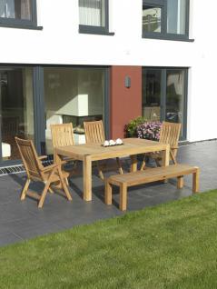 Gartengruppe Gartenmöbel Outdoor Garten-Set 6-teilig Teakholz / Edelstahl FSC