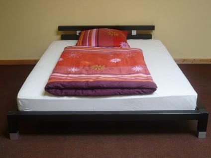 Futonbett Bett Einzelbett 160x200 mit Rosten und Matratze Komplettset schwarz - Vorschau 2