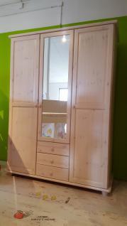 Kleiderschrank Schrank 3-trg. Kiefer massiv weiss lasiert Kinder - Jugendzimmer