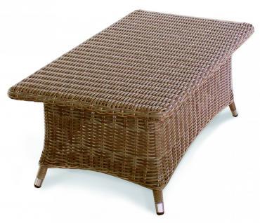 Couchtisch Ablagetisch Tisch Beistelltisch Ablage Geflecht Garten Lounge - Vorschau 1