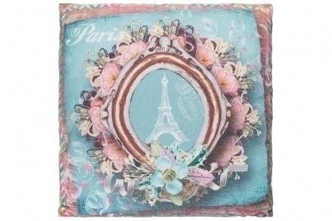 Kissen Pink Paris Baumwolle&Polyester Bunt