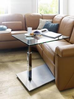 Couchtisch Beistelltisch Glas, Holz und Metall 47x55 cm - Vorschau 3